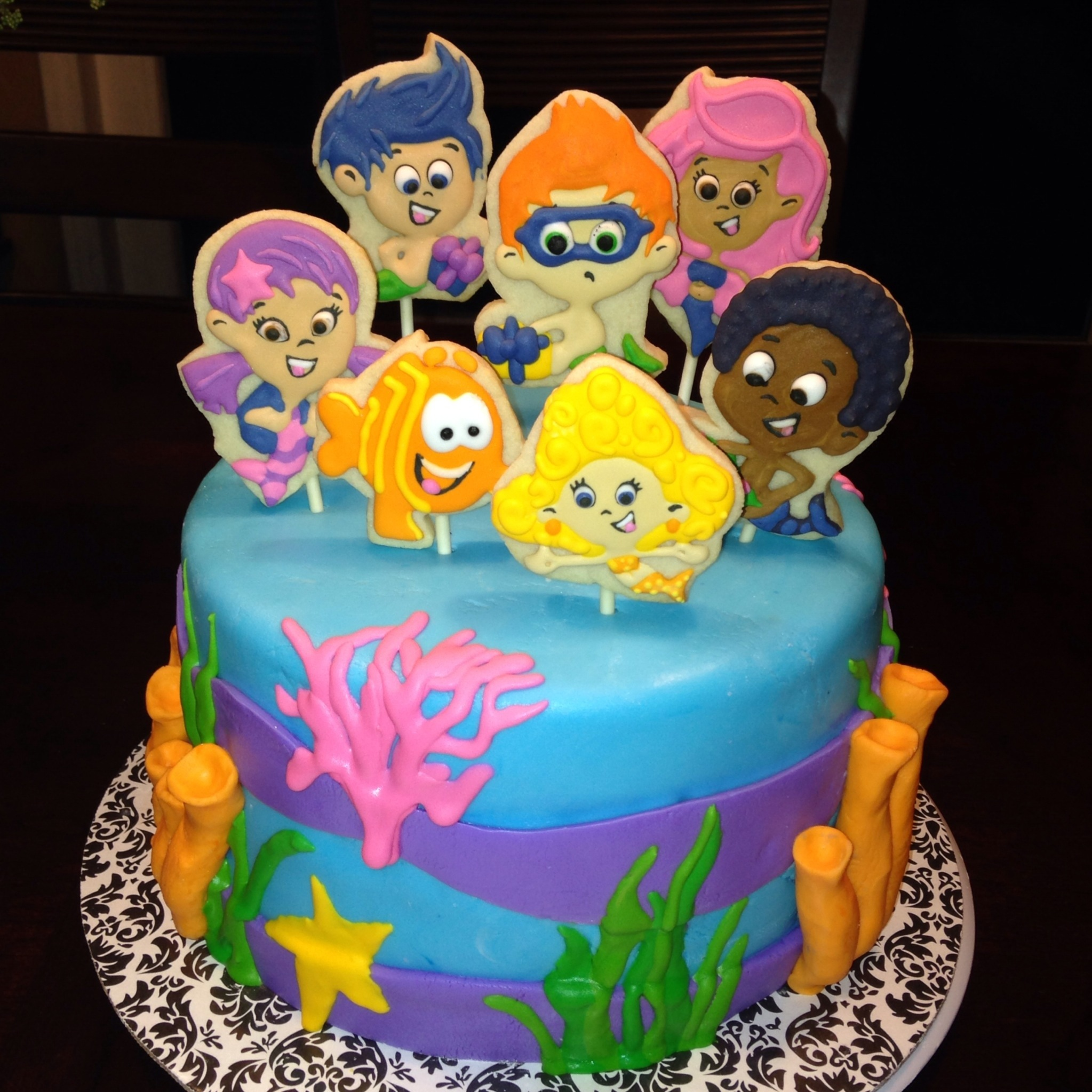 Pin Party Supplies Bubble Guppies Birthday Cake Cake On